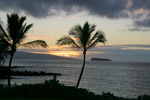 A Maui sunset with Molokini in the distance