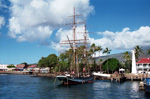 Sailing ship in Lahaina Harbor