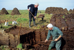 Cutting Turf from a Peat Bog